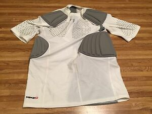 Under Armour Men's White Armour  5 Padded Compression Shirt  XL  MPZ2