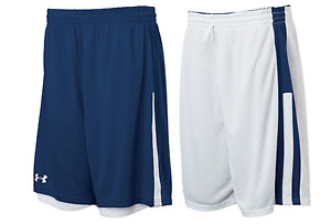 Under Armour mens Undeniable reversible Basketball Shorts  Navy  White 3xl