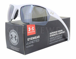 NEW Under Armour Zone 2 Satin White  Gray 8600050-110901 Sunglasses