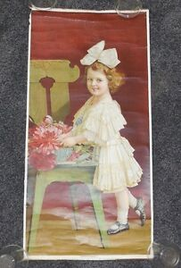 Antique Yard Long 1910 quot;Sweetheartquot; Pretty Blond Edwardian Girl Child Bow Hair $124.99