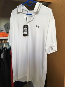 Under Armour men's XXL golf Polo Color Back Heat Gear Loose Fit