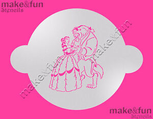 Beauty and Beast Cake Stencil Airbrushing Cookie Stencil Schablone
