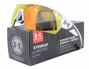 NEW Under Armour Rival 8600090 110941 Satin White  Orange Multifl Sunglasses