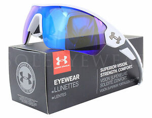 NEW Under Armour Rival 8600090 110961 Satin White  Blue Multif Sunglasses