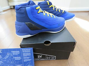 Under Armour Kids Ps Curry 3  Basketball Shoe 3Y Kids Dub Nation BLUE SOLD OUT!!