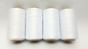 WHITE SPUN POLYESTER THREAD QUILTING SERGER SEWING THREAD 4000 YARDS T27 #651 $8.88