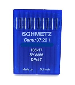 10 SCHMETZ 135X17 SIZE#20 125 INDUSTRIAL SEWING MACHINE NEEDLES DPX17 SY3355 $5.98