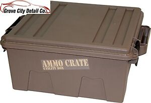 Ammo Hunting Survival Camping Storage Crate Utility Box Water Resistant New