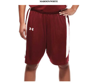 Under Armour Womens  Next Level Basketball Shorts  Maroon  White