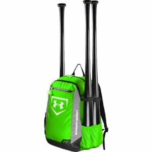 Hyper Green Under Armour Hustle Bat Bag Pack Baseball Sport Equipment Backpack