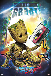 GUARDIANS OF THE GALAXY VOL. 2 - MOVIE POSTER (BABY GROOT WITH MIXTAPE)