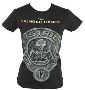 The Hunger Games Girls Juniors T-Shirt - Stone Circle District 12 Image