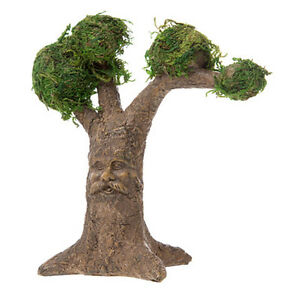 Fairy Tree with Face and Moss 6quot; x 6.5quot; x 2.5quot; Miniature Garden Dollhouse $6.95