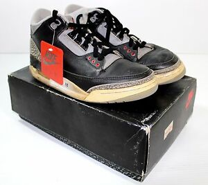Original Nike Air Jordan OG 1988 3 III Black Cement in OG Box