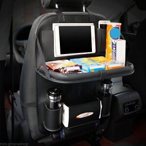 Black Car Seat Back Multi-Pocket Leather Storage Bag Organizer Holder Accessory