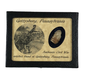 Shot Bullet Relic from The Battle of Gettysburg with Display Case and COA $18.89