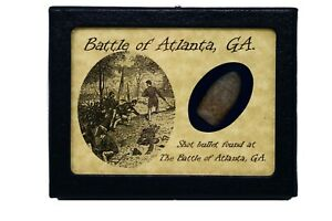 Shot Bullet from The Battle of Atlanta GA with Display Case and COA $15.89