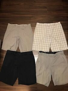NIKE TIGER WOODS COLLECTION GOLF SHORTS COLLECTION LOT OF 4 PAIRS MENS 36