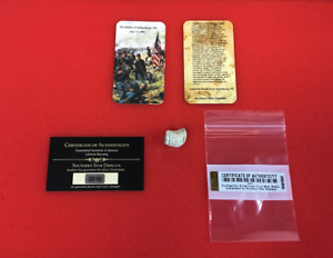 Fired Civil War Bullet from Gettysburg, PA with Information Card