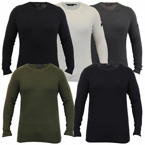 mens jumper knitted Dissident ribbed sweater pullover waffle lightweight winter