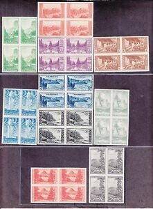 US 756 765 National Parks Imperforate Blocks of 4 w Original Gum XF NH SCV $460