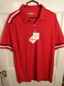 Tabasco Sport Men's Bright Red Short Sleeve Polo shirt Size L NWT 032 Dry Fabric