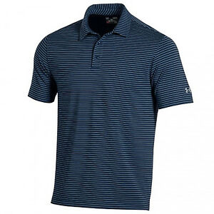 Under Armour Playoff Zone Stripe Polo Blue Infinity XX-Large