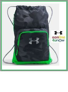 Under Armour Exeter II Sackpack GreenBlack 1286663 001 Unisex Gym Workout