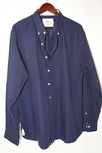 #47 BROOKS BROTHERS Cotton Long Sleeve Sports Shirt Size L NWOT