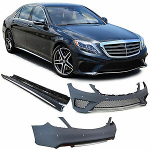 Front rear bumper side skirts complete bodykit for Mercedes S Class W222 from 13
