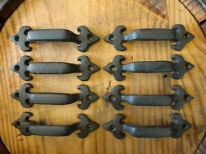 8 BROWN ANTIQUE STYLE 4.75quot; RUSTIC LILY DRAWER DOOR CABINET PULLS HANDLE iron