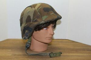 PASGT US Military Kevlar Helmet Ballistic Tactical wCameo Cover Size XS