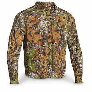 Under Armour UA Chesapeake Camo Shirt XXL Loose Mossy Oak Obsession Hunting 2XL