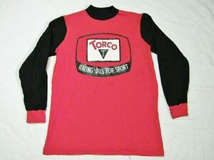 Vintage 70's Torco Racing Oils For Sports Motorcycle MX Racing Jersey Shirt M