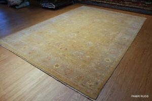 ELEGANT 8'x12  Handmade rug Muted Washed Out Beige Gray wool Rug
