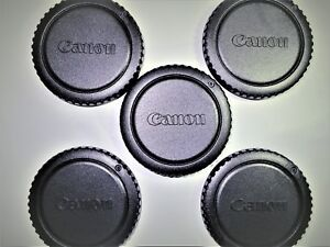 5 X CANON BODY CAPS for CANON CAMERAS BEST Quality CAPS FAST FREE U.S.SHIPPING