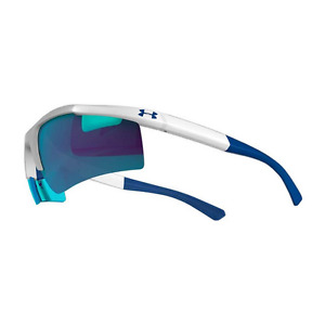 Under Armour Core 2.0 Shiny White Sunglasses With Gray Blue Multiflection Lenses