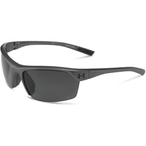 Under Armour Zone 2.0 Storm Satin Carbon Sunglasses With Gray Polarized Lenses