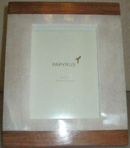 NEW PAPYRUS 5X7 WOOD amp; ALABASTER TABLETOP PICTURE FRAME #786011