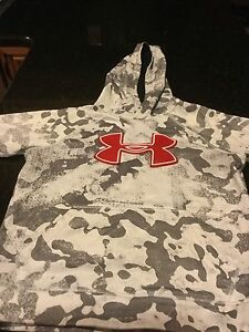 Under Armour Youth WhiteGrey Camo Hoodie