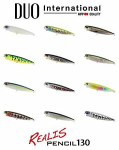 DUO Realis Pencil 130 Topwater Lure Select Color s
