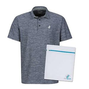 Men's Dry Fit Golf Polo Shirt Athletic Short Sleeve Shirts Blue Laundry New
