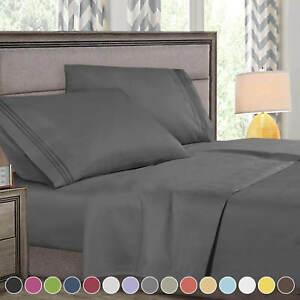 Super Deluxe 1800 Count Hotel Quality 4 Piece Deep Pocket Bed Sheet Set $22.99