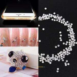 2000PCS Crystal Silver Flat Back Rhinestone Wedding Party Decor DIY Phone Decor