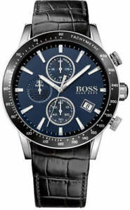 Men's Hugo Boss Rafale Chronograph Black Leather Bracelet Watch 1513391