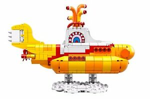 LEGO The Beatles Yellow Submarine 21306 SUBMARINE ONLY No Minifigs with box $94.99