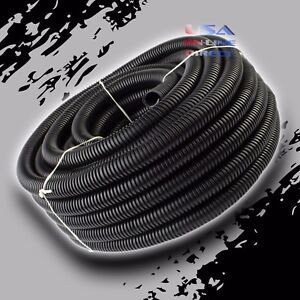 100Ft 1 2quot; Marine Grade Conduit Car Home Tubing Split Wire Loom Black Sleeve USA