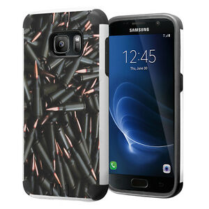 Hybrid Dual Layer Armor Case for Samsung Galaxy S7 - Bullets