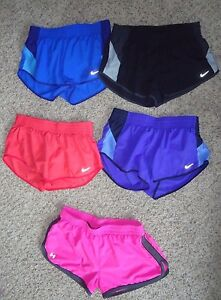 LOT OF 5 WOMEN'S NIKE DRI FIT TEMPO UNDER ARMOUR SHORTS W LINER SIZE M