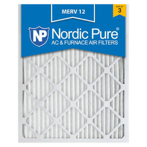 16x20x1 Air Filter Furnace Merv 12 13 Pleated Electrostatic 8 Nordic Pure 11 AC